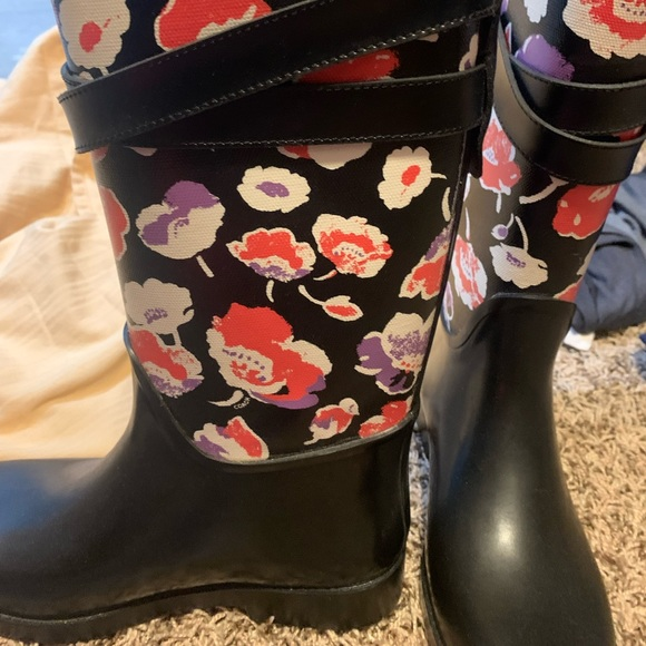 Coach rubber rain boots size 7 only worn once